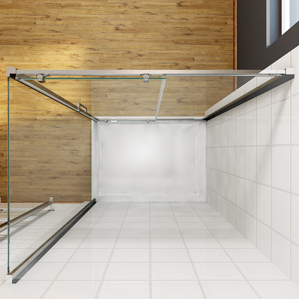 Shower Enclosure Sliding Door Cubicle Side Panel And Tray