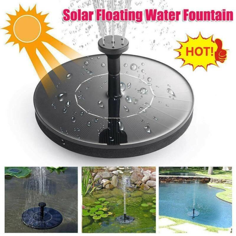 Bird Bath Fountain Solar Powered Water Pump Floating Pond Outdoor Garden Pool US