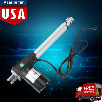 Ip54 Dc12v Linear Actuator 6000n 1320lbs Max Lift 820in Stroke Electric Motor
