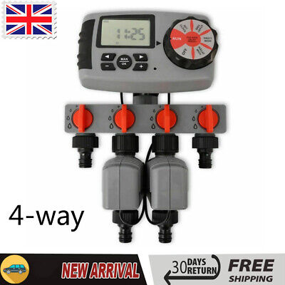 Garden Automatic Irrigation Water Timer Controller System with 4 Stations 3 V