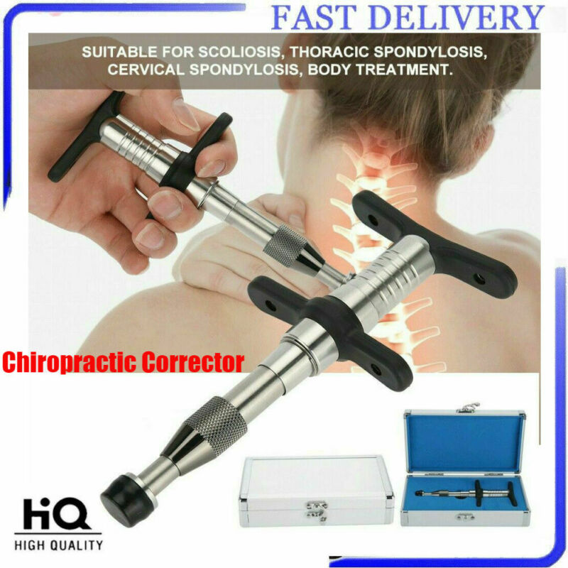 PRO Manual Chiropractic Spine Adjusting Corrector Tool Forth Massager Therapy