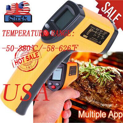 Un-contact Lcd Ir Laser Infrared Digital Temperature Thermometer Gun Pyrometer
