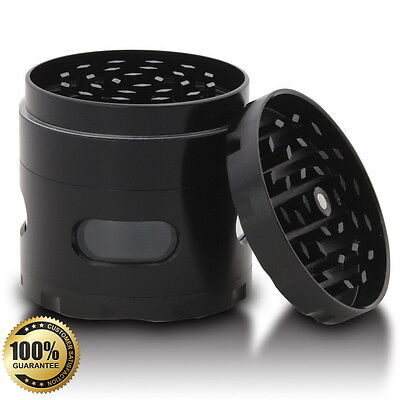 Tobacco Herb Spice Grinder Hand Metal 2.2 Inch Black 4 Piece Herbal Crusher New