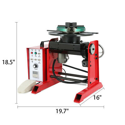 30kg Rotary Welding Positioner 0-90 Tilte Table Three-jaw Chuck Time-controller