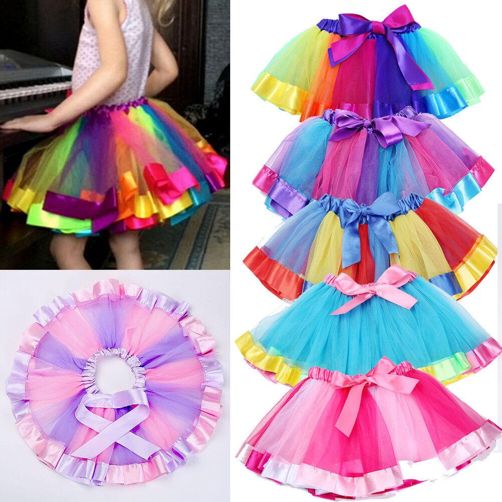 c6b3e7fcf1cd89 ... Cute Kinder Ballettrock Bunt Tutu Rock Mädchen Rainbow Tüllrock  Minikleid Tanz, Bunt Mädchen Kinder Ballettrock Tütü Minirock 7 Schichten  ...