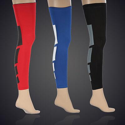 Sport Football Basketball Hiking Strech Leg Knee Long Compression Sleeve Gear