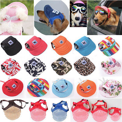 Pet Dog Hat Baseball Cap Windproof Travel Sports Sun Hats for Puppy LargeDog Lot Baseball Hats For Dogs