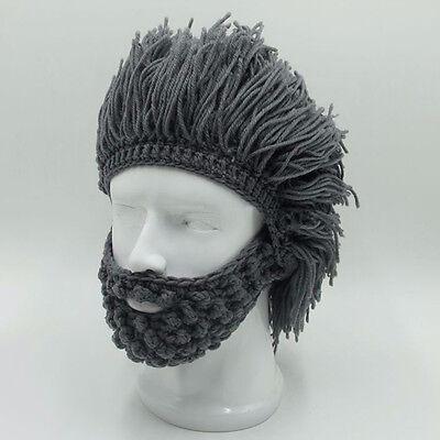 1Pcs Wig Beard Hats Funny Hobo Handmade Creative Warm Caps for Cosplay Halloween