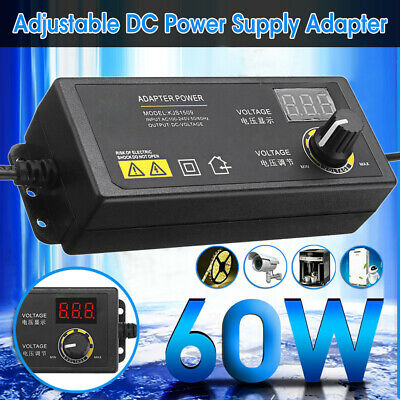 Adjustable Voltage 3-24v 5a Power Supply Adapter Acdc Switch W Led Display Us