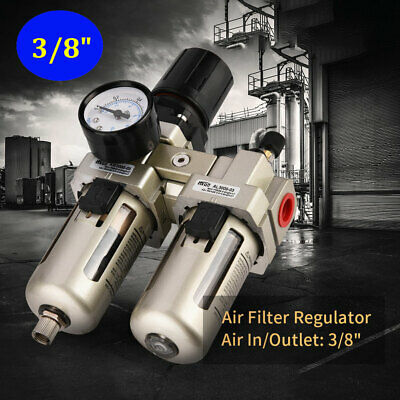 1pc 38 Air Compressor Filter Oil Water Separator Trap Tools W Regulator Gauge
