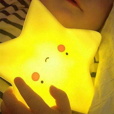 Portable Star Sun Moon Kids Baby Children Led Night Light Nightlight Lamp Decor