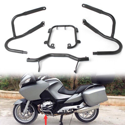 Black Engine Guard Front Lower Crash Bar Protector fit for BMW R1200RT 2005-2013 for sale  Shipping to Canada