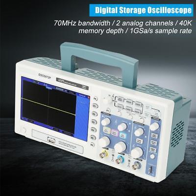 Hantek Dso5072p 2ch 70mhz 1gsas Digital Oscilloscope 7 Inch Tft Lcd Ac100-240v