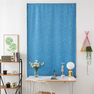 Stars Stick-on Window Curtain Blind Kitchen Balcony Blockout Drape Home Decors Curtains & Drapes