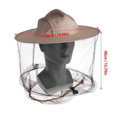 1pcs Beekeeping Hat Mosquito Bee Net Veil Face Head Protector Cap Protection New