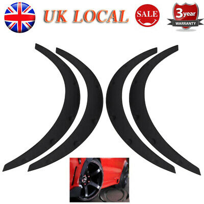 4X PRO SUV Car Flexible PP Plastic Fender Flares Extra Wide Wheel Arches Tool