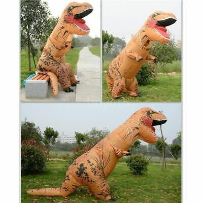T-REX Inflatable Dinosaur Costume Jurassic Blow up Adults Kids Outfit