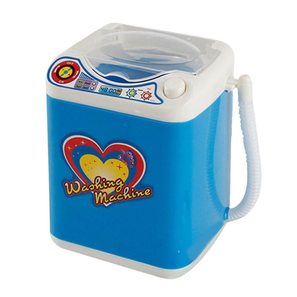 Mini Electric Washing Machine Kids Dollhouse Toy Makeup ...