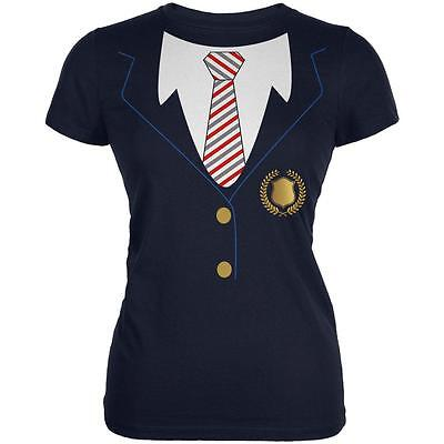 Halloween American School Girl Costume Juniors Soft T Shirt](Halloween School Girl Shirt)