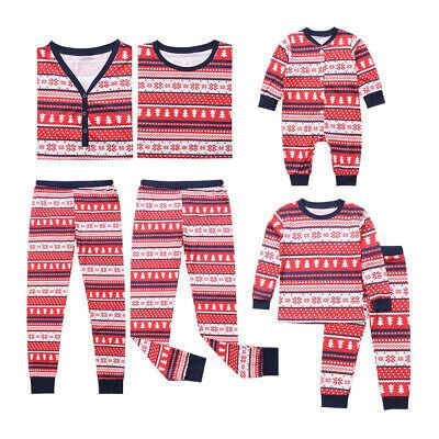 Weihnachten Familie Nachtwäsche, Langarm Xmas Schlafanzug Pyjama Set Sleepwear