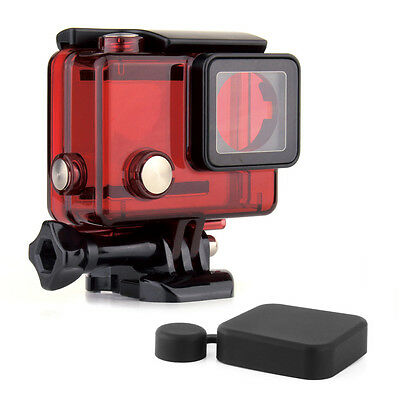 For GoPro Hero 3 3+ 4 Waterproof Housing Protective Underwater Diving Case Red