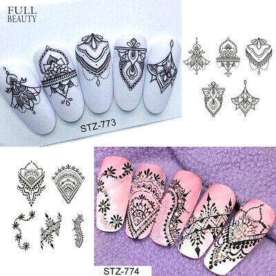 Nail Art Sticker Flower Decals Fancy Pattern Design Watermark Slider Decoration/ ()