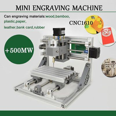 Mini Cnc 1610 500mw Laser Cnc Engraving Machine Pcb Milling Wood Router B2