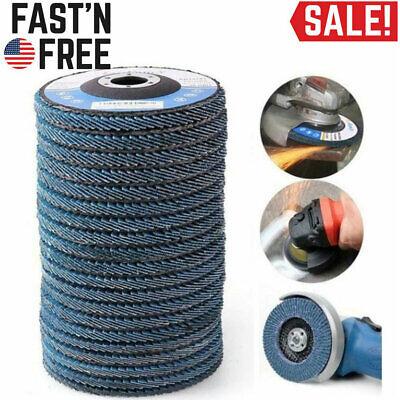 10 Pack 4.5 Grinding Wheel Sanding Discs 4 12 Tr27 60 Grit For Angle Grinder