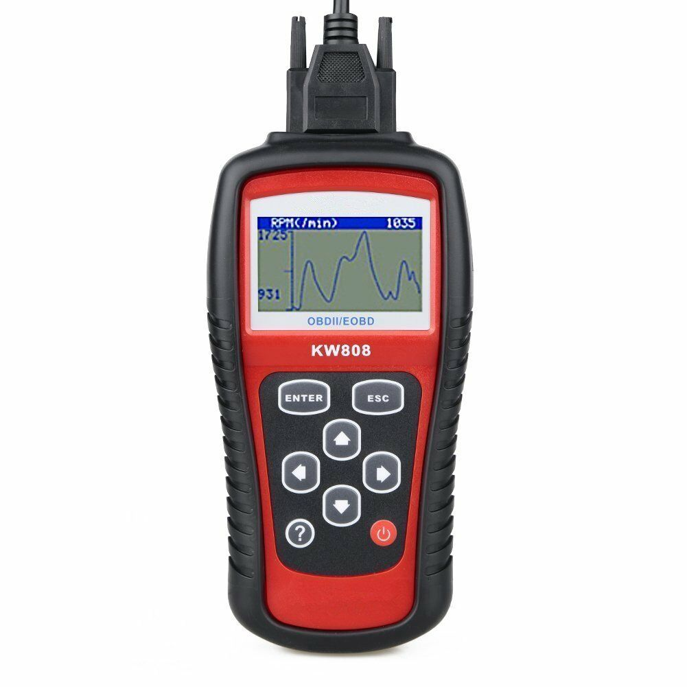 Konnwei KW808 OBD2 OBDII EOBD Scanner Car Fault Code Read Re