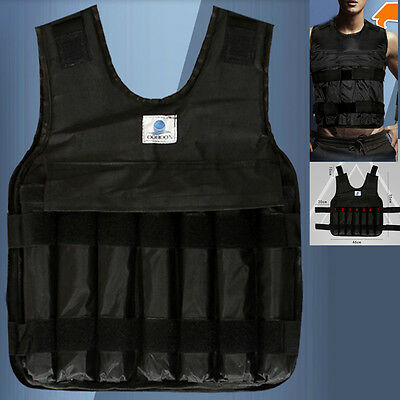 Adjustable 44lbs/20kg Weighted Vest Jacket For Strength Training Fitness Running