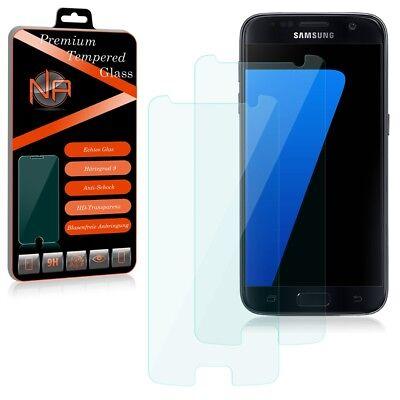 Samsung Galaxy S7 Schutzglas 2x Glasfolie Panzerfolie Schutz Folie Echt Glas 9H