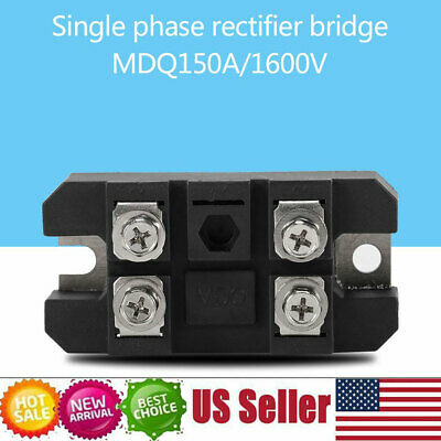 4 Terminals Single-phase Diode Bridge Rectifier 150a Amp High Power 1600v Black