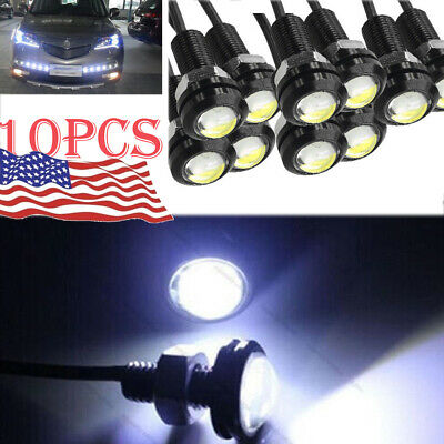 10pcs White Eagle Eye Motor Car 18mm 9W LED Fog  Reverse Backup DRL Light Lamp