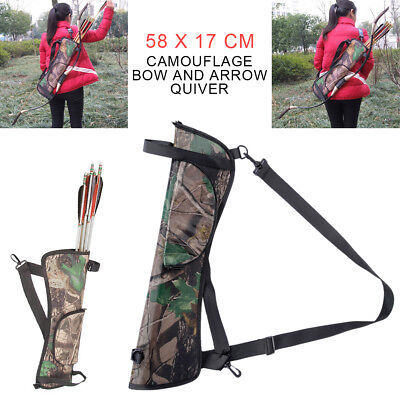 Archery Back Arrow Quiver Target Hunting Hip Waist Bag Bow Holder Pouch Portable Archery Hip Quivers
