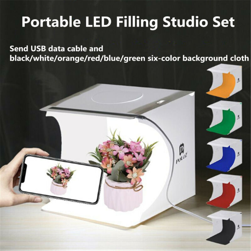 Mini Folding Lightbox Studio LED Photo Booth Shooting Box Lighting Tent New