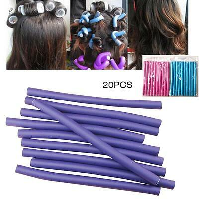 10x Women Hair Curlers Maker Curly Soft Foam Rollers Bendy Twistee Sponge DIY US