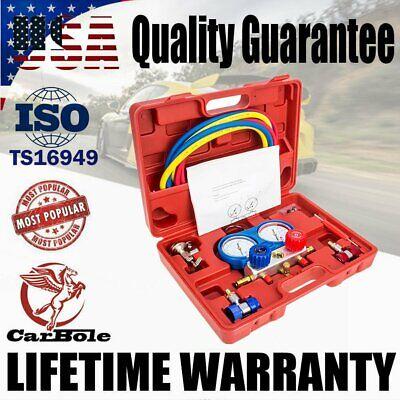R134a R404a R22 R410a Hvac Ac Refrigeration Charging Kit Ac Manifold Gauge Set