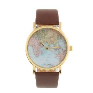 Novelty Wrist Watch with world map face Springvale Greater Dandenong Preview