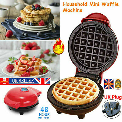 Mini Waffle Maker Kitchen Supplies Non-Stick Baking Pancake Snack Paninis Food