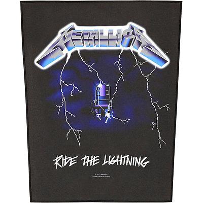 Metallica Men's Ride The Lightning Back Patch Black