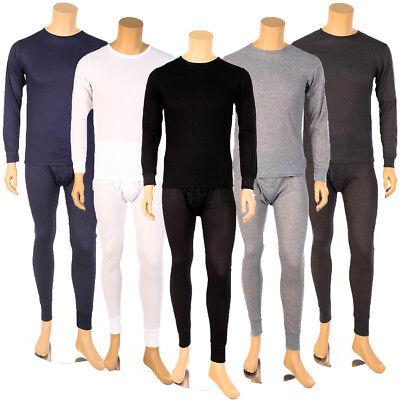 - Mens 2pc Thermal Underwear Set Long Johns Waffle Knit Top Bottom S M L XL 2X 3X
