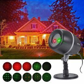 Stage Waterproof SpotLights with Red & Green for Outdoor&Indoor Garden