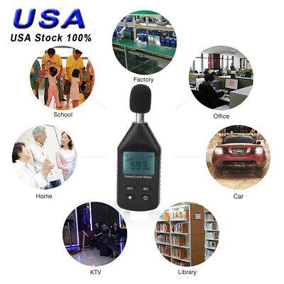 Digital Sound Pressure Level Decibel Noise Meter Tester Measurement 30130db