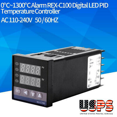 01300 Ac110v-240v Alarm Rex-c100 Digital Led Pid Temperature Controller Kits