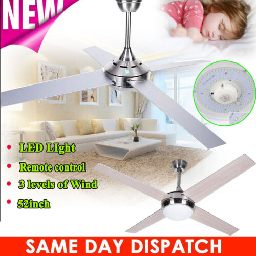 52inch Ceiling fan with Light and Remote 4 Blade 3 Level Sum