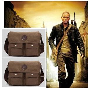 Men's Vintage Canvas Leather Satchel School Military Shoulder Bag Messenger BEST