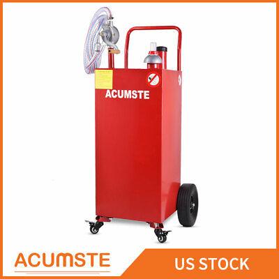 35 Gallon Gas Oil Fuel Diesel Caddy Transfer Portable Dispense Tank Wpump Red