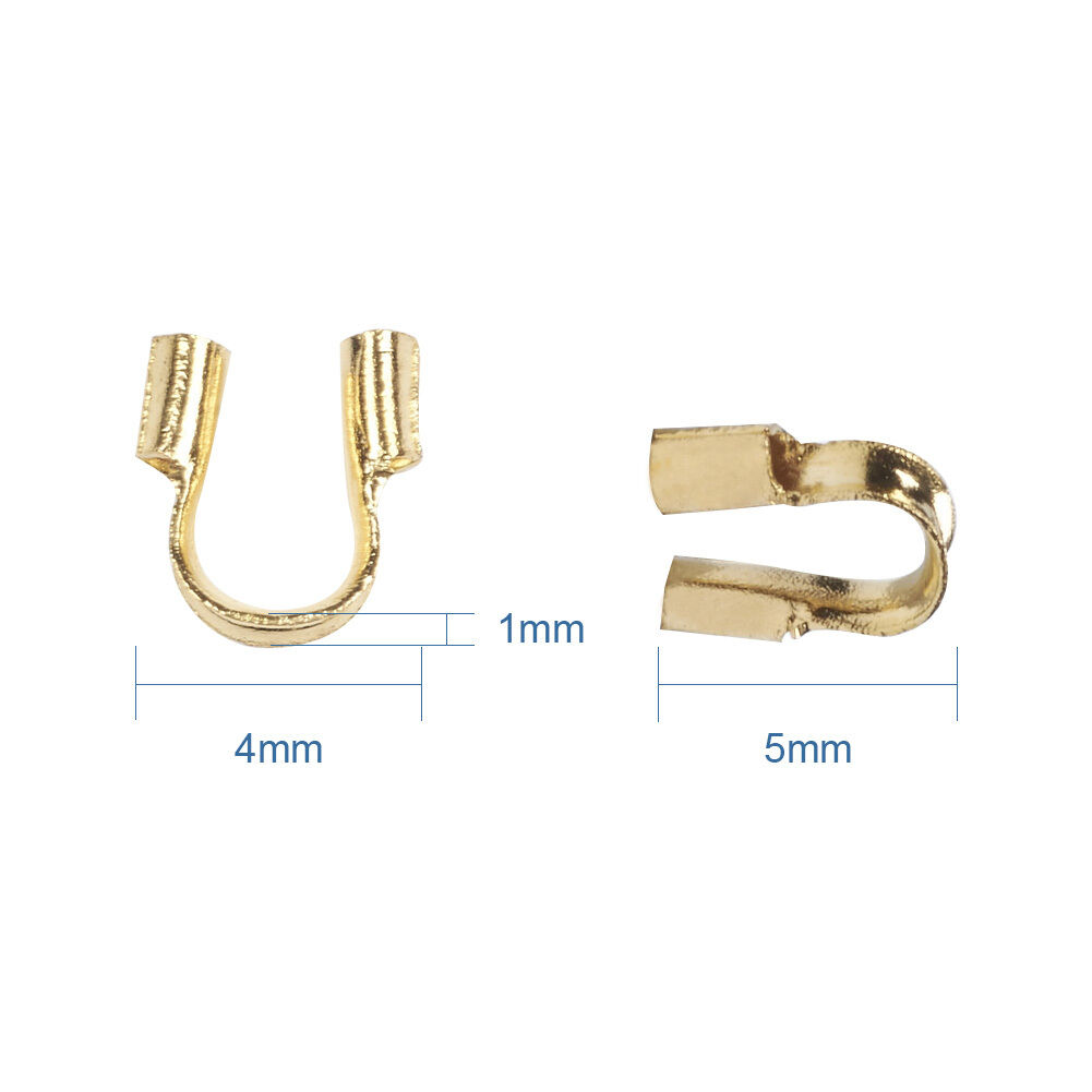 540pcs//Box 6 Color Brass Wire Guardian Cable Protectors Loops End Crimp 5x4x1mm