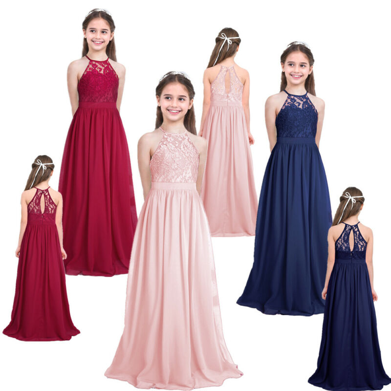 Flower Girl Princess Dress Pageant Wedding Bridesmaid Dress Formal Party Gown