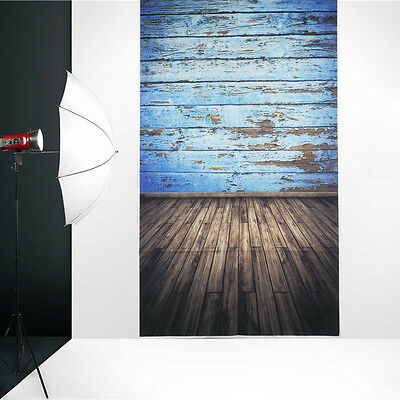 3x5FT Vinyl Blue Board Floor Photography Background Backdrop For Studio Props